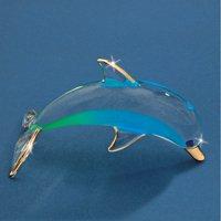 Glass Baron Dolphin Ocean Blue Figurine