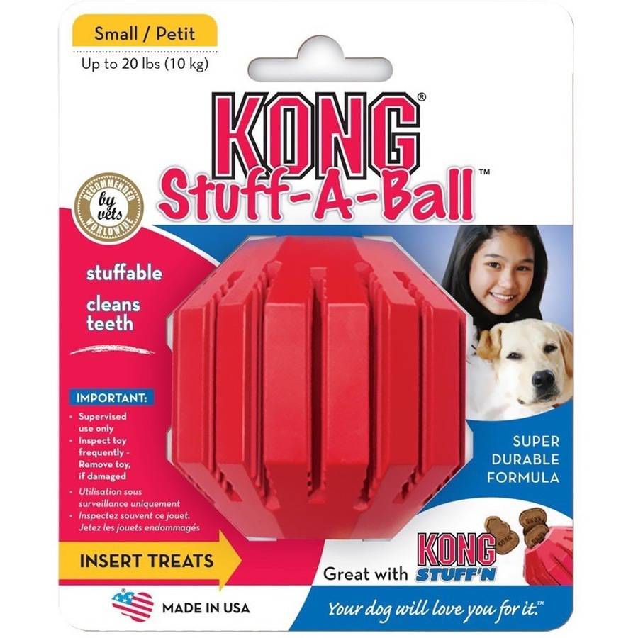 KONG Stuff-A-Ball Dog Toy, Small, Red