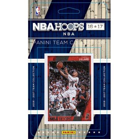 Portland Trail Blazers 2016 2017 Hoops Basketball Factory Sealed 9 Card NBA Licensed Team Set Damian Lillard Plus ()