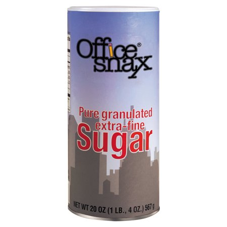 Office Snax Reclosable Canister Of Sugar  20 Oz