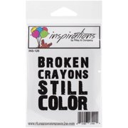 "Riley & Company Inspirations Cling Stamp, 2.5"" x 3"", Broken Crayons"