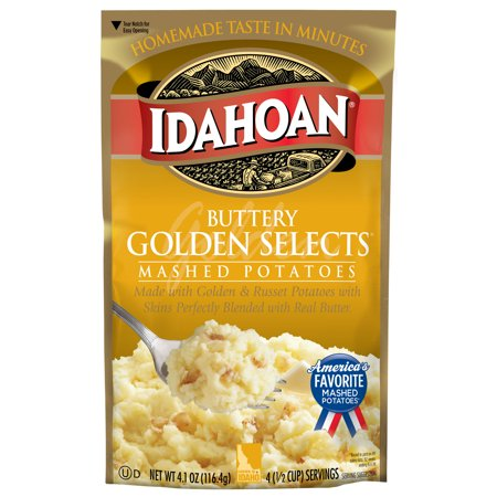 Idahoan Buttery Golden Selects® Mashed, 4.1 oz Pouch
