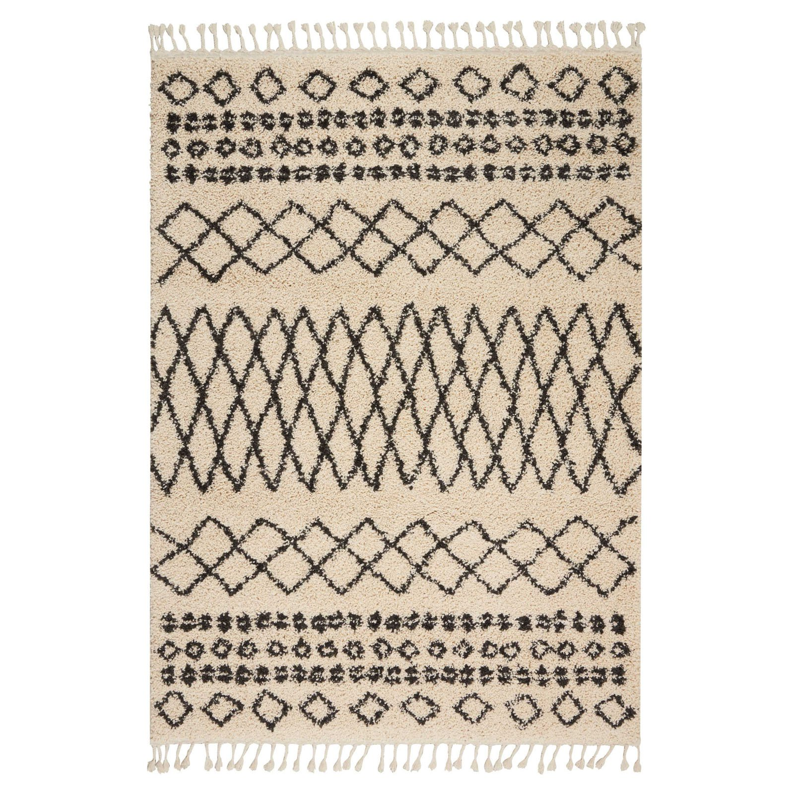 Nourison Moroccan Marrakesh Shag Cream Area Rug by Nourison