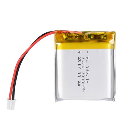 Power Supply DC 3.7V 2000mAh 103745 Rechargeable Lithium Polymer Li-Po Battery - image 2 de 5