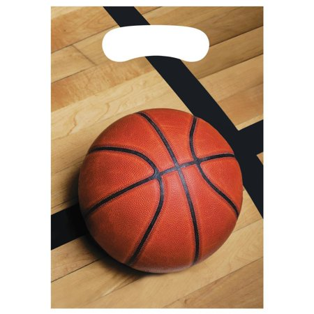 Creative Converting Basketball Favor Bags, 8 ct](Basketball Treat Bags)