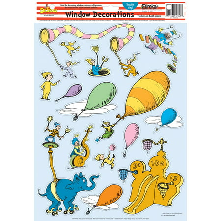 Dr. Seuss Oh The Places You'll Go Window Decorations by Eureka (Go Diego Go Wall Appliques)