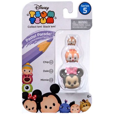Disney Tsum Tsum Series 5 Pastel Parade Chip, Dale & Minnie Minifigure 3-Pack