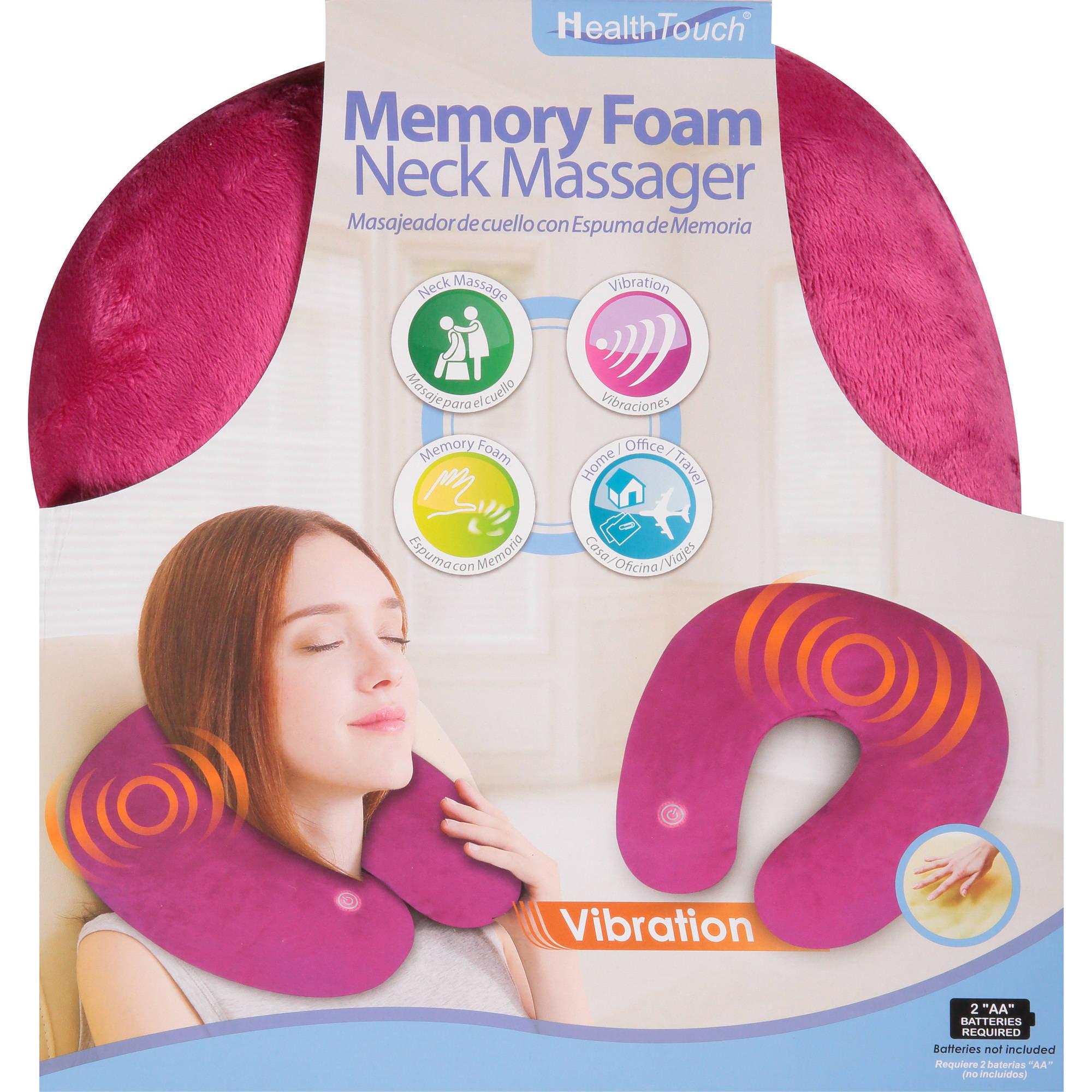 Health Touch Memory Foam Neck Massager, Pink