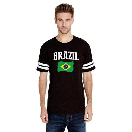 Brazil Men Football Fine Jersey Tee