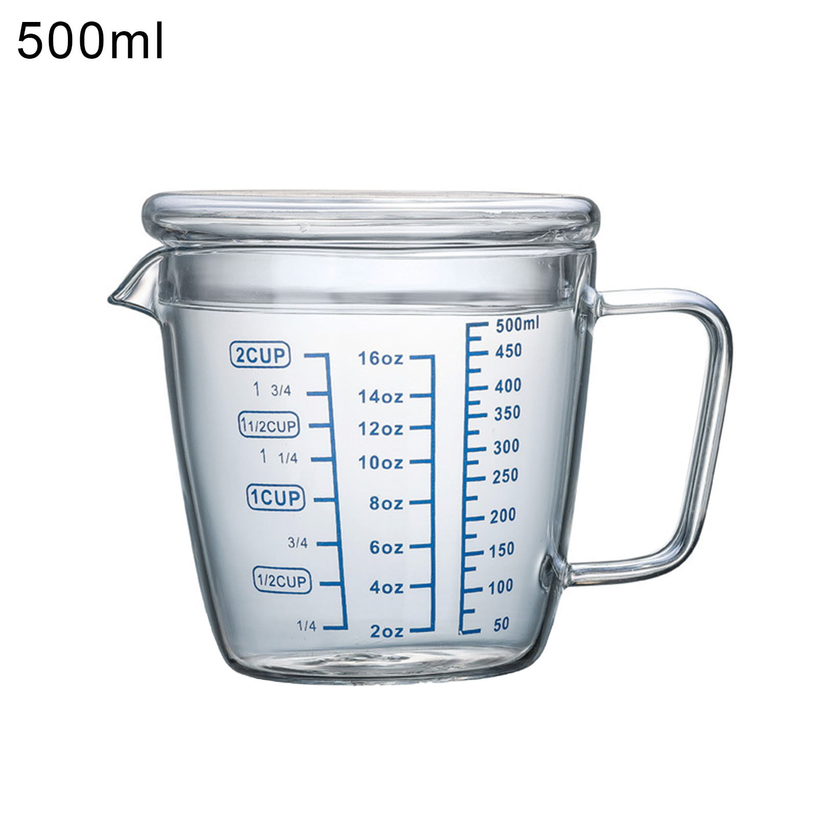 BONYOUN Measuring Cup Graduated with Lid Glass Multipurpose Milk Cup for  Home,Milk Cup
