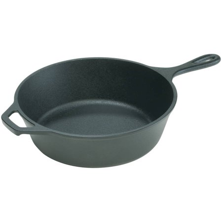 "Lodge Logic 10.25"" Deep Skillet, Seasoned Cast Iron, L8DSK3, with assist handle"