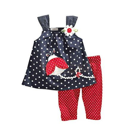 StylesILove Baby Girls Sleeveless Tunic and Red Pants 2-pc (3-4