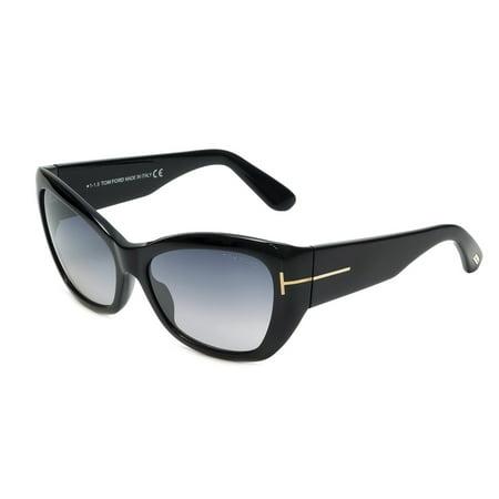 Tom Ford FT0460/S 01C CORINNE Black Square Feline (Feline Sunglasses)