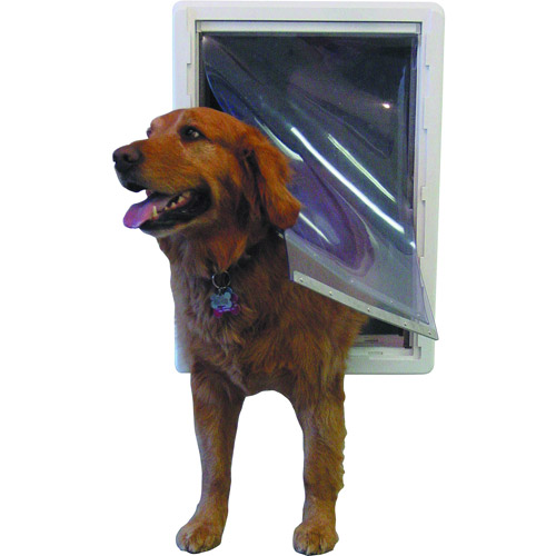 Ideal Ruff Weather Pet Door White Super Large for pets to 120 lbs.