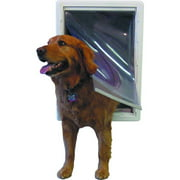 Ideal Ruff Weather Pet Door White, Super Large for pets to 120 lbs.