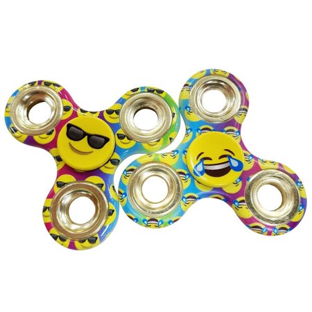 Emoji Two  2  Pack Of Fidget Spinner Toys   Helps Relieves Symptoms Of Stress Boredom Adhd Add   Helps Focus At School Class Home Work   Sunglasses Shades Crying Face