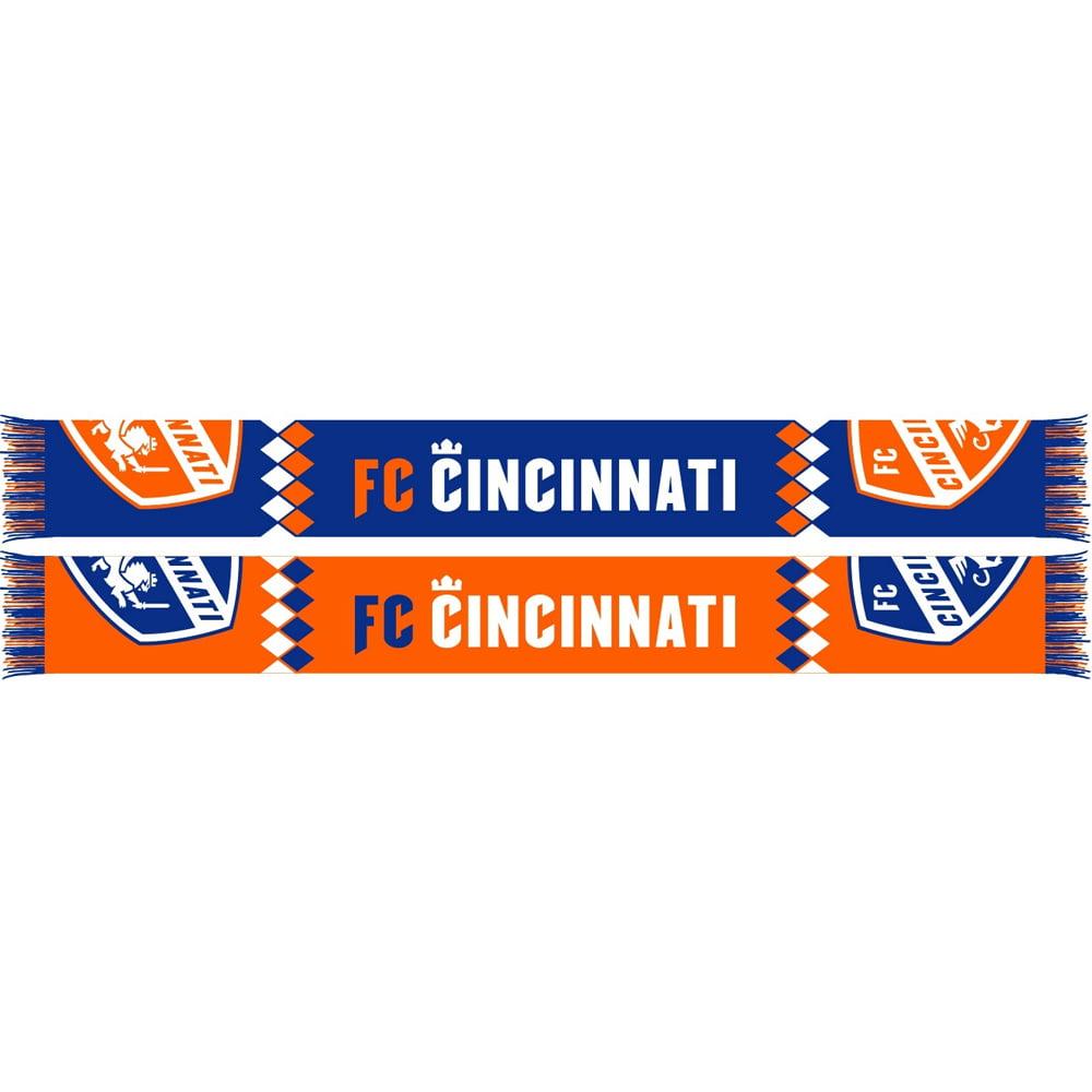 FC Cincinnati Diamond Split Crest Scarf - Orange - No Size