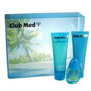 Club Med My Ocean 3 Pc. Gift Set ( Eau De Toilette Spray 1.0 Oz + Body Lotion 4.0 Oz + Shower Gel 4.0 Oz) for Women by Coty