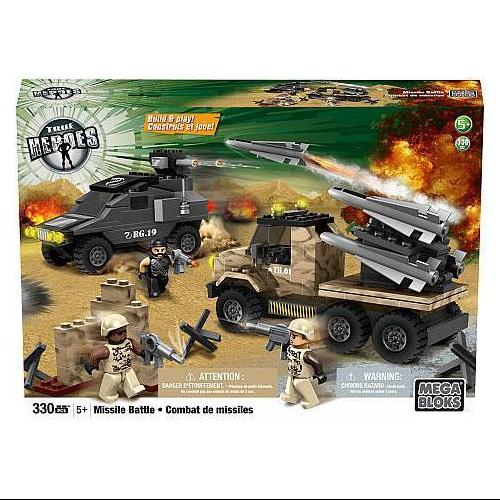 Mega Bloks True Heroes Build & Play Missile Battle Set