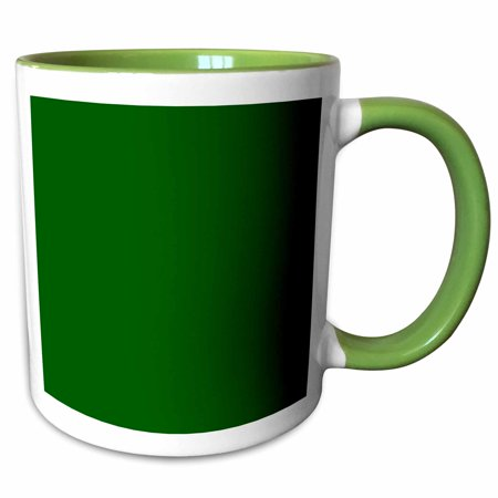 3dRose Dark bottle green - plain simple one single solid color - Hunter green - Two Tone Green Mug, - Solid Hunter Green Insert