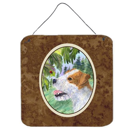 Jack Russell Terrier Aluminium Metal Wall Or Door Hanging Prints - 6 x 6 (Jack Russell Terrier For Sale In Ny)