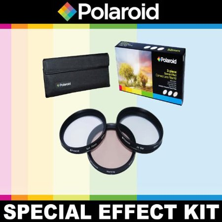 Optics 3 Piece Special Effect Lens Filter Kit (Soft Focus, Revolving 4 Point Star, Warming) For The Pentax K-X, K-7, K-5, K-R, 645D, K20D, K200D, K2000, K10D,.., By Polaroid,USA - Special Effects Contact Lenses Halloween