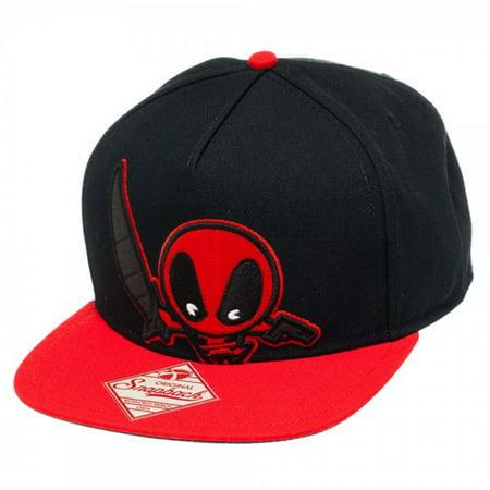 Marvel Kawaii Black Snapback Hat