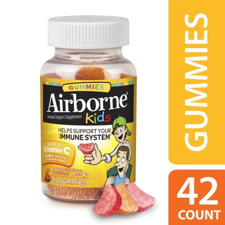 - Airborne Kids Gummies Vitamin C Supplement, Assorted Fruit, 667mg - 42 Gummies
