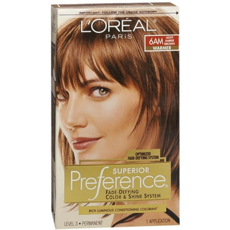 L Oreal Superior Preference 6am Light Amber Brown Warmer 1 Each