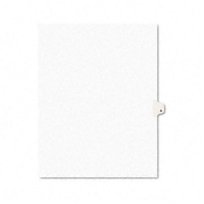 Avery 01415 Avery-Style Legal Side Tab Dividers- One-Tab- Title O- Letter- White- Pack of 25 - image 1 of 1