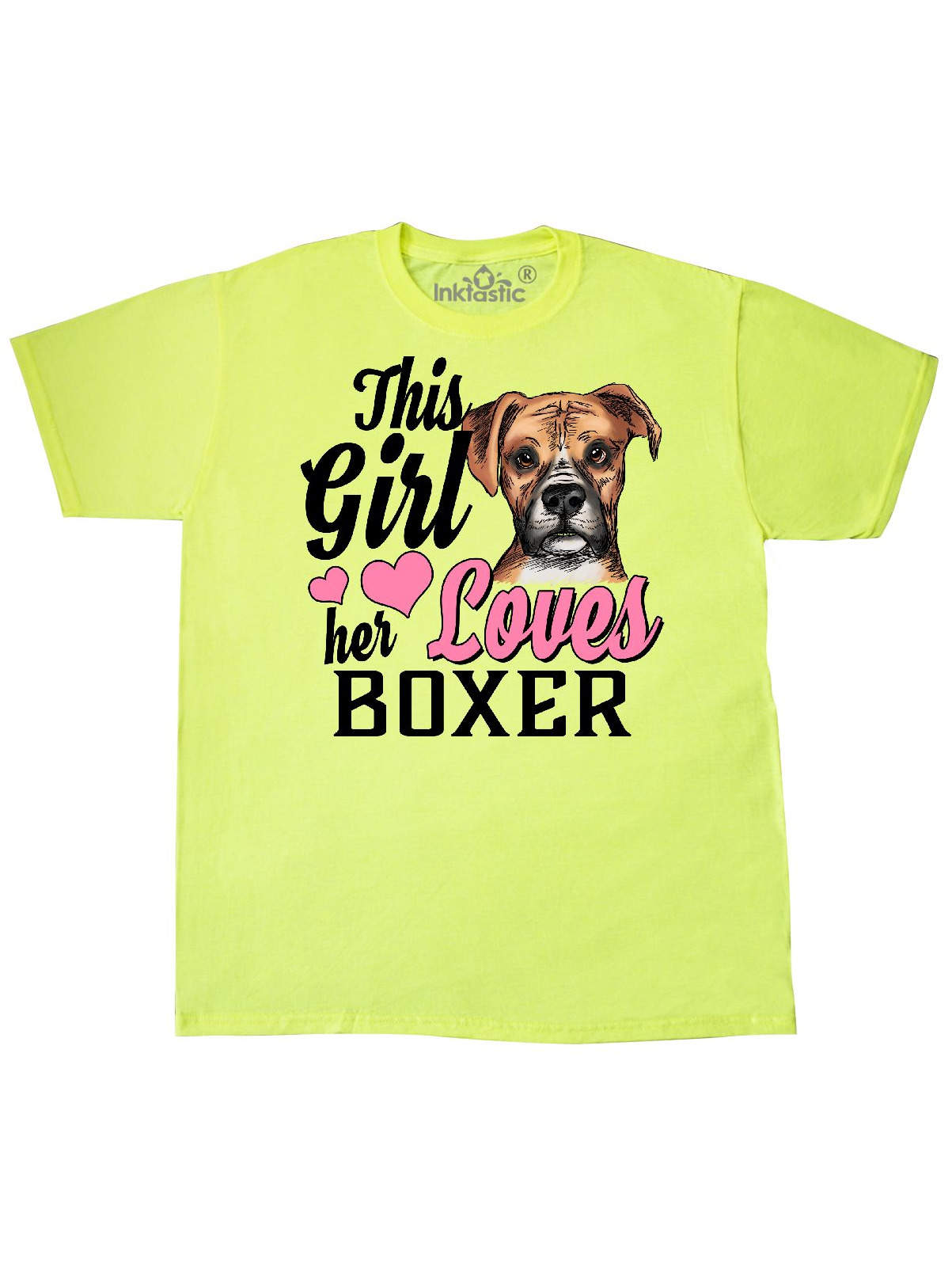 Inktastic This Girl Her Boxer T-Shirt Pets Dog Doggy Cute Love I Pitbulls