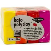 Kato Polyclay 2oz 4-Color Set-Warm-Yellow, Orange, Red & Magenta