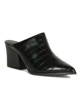 Women Wild Print Pointy Toe Chunky Slide Mule Heel 19135