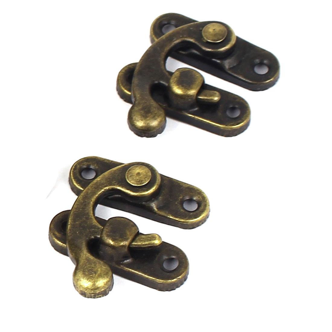 Jewelry Case Gift Box Lock Latch Buckle Clasp Bronze Tone 32x27mm 30pcs - image 2 of 3