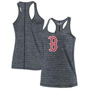 Boston Red Sox New Era Women's Space Dye Jersey Tri-Blend Tank Top - Navy