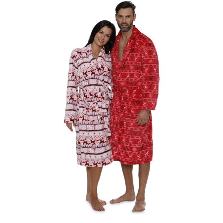 Intimo Women's Reindeer Holiday Robe - image 2 de 6