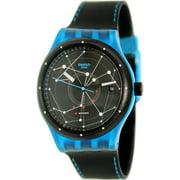 Swatch SUTS401 39mm  Plastic Case Black Calfskin Mineral Men's & Women's Watch