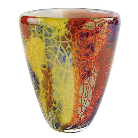 Badash Firestorm Oval Murano Style Art Glass Vase