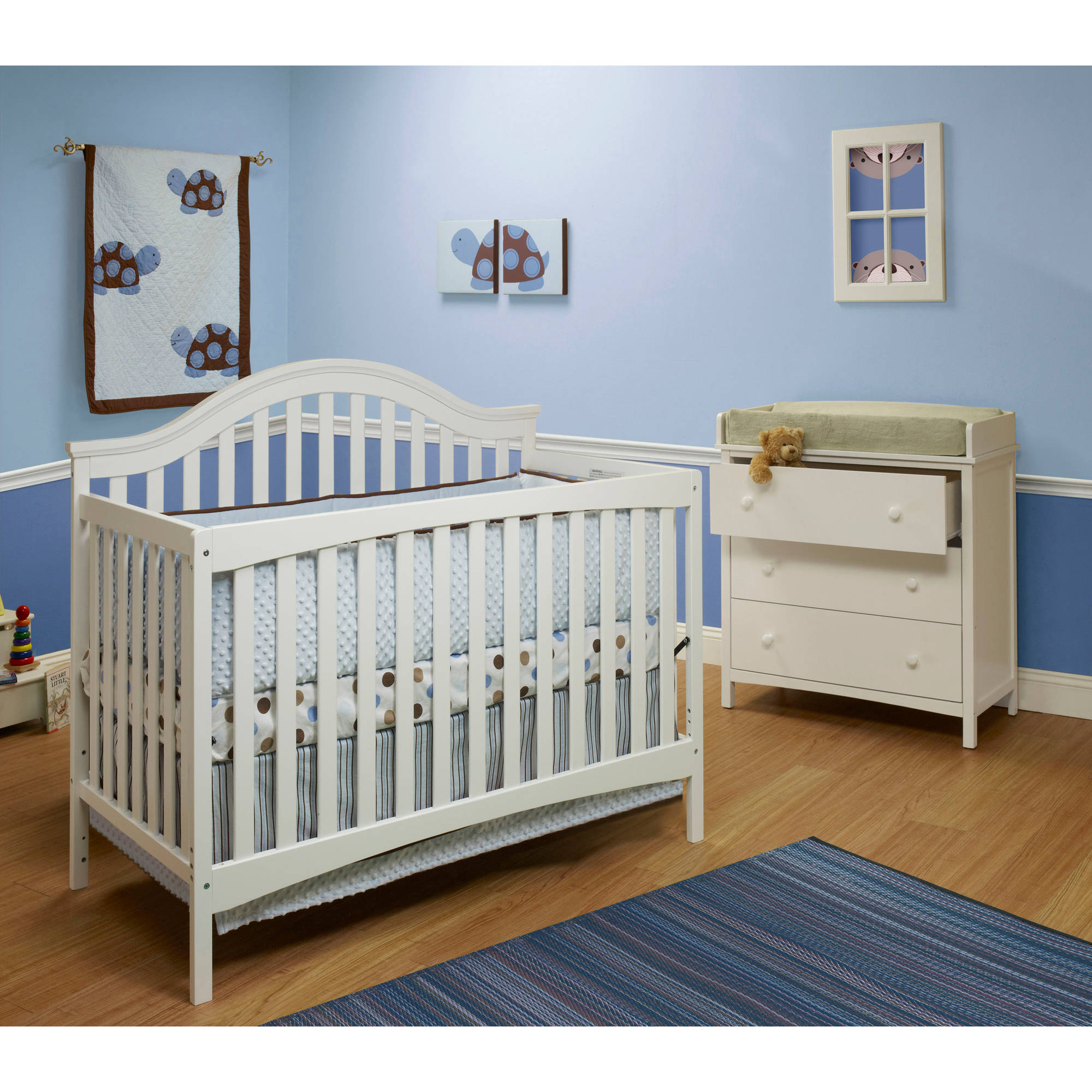 Sorelle Lynn 4-in-1 Fixed-Side Convertible Crib, Choose your Finish