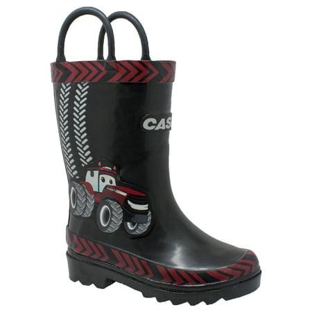 Children's 3D Big Red Rubber Boot Black -