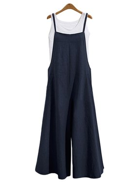 47399ddc9431 Product Image Women Long Suspender Bib Casual Loose Solid Jumpsuit