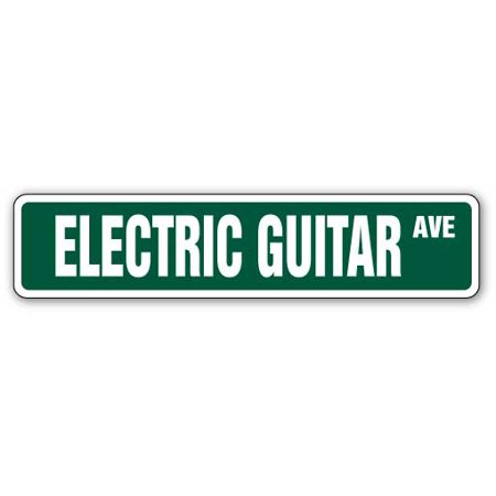 Player Street Sign - ELECTRIC GUITAR Street Sign band signs player music lessons | Indoor/Outdoor |  24