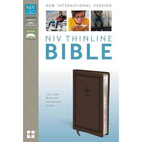 Holy Bible: New International Version, Chocolate, Italian Duo-Tone, Thinline Bible