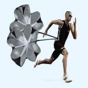 Jeobest Training Parachute - Running Speed Training - Speed Training Resistance Parachute Umbrella Running Chute & Fitness Explosive Power Training For Running Sport Exercise MZ (Black)