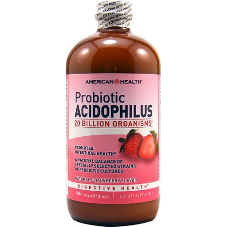American Health probiotique acidophilus liquide, Fraise naturel, 16 Oz Fl