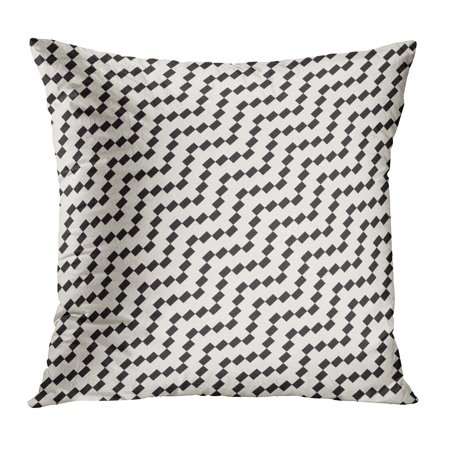 ECCOT Abstract Halftone Edgy Lines Mosaic Endless Black and White Pattern Brick Edge Ethnic Facet Geometric PillowCase Pillow Cover 18x18 inch