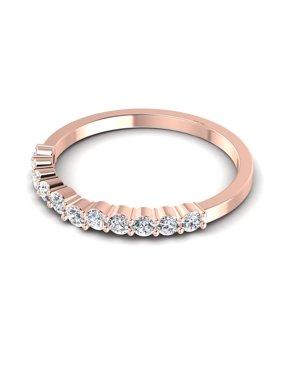 0.35CT Round Cut Diamonds Wedding Band