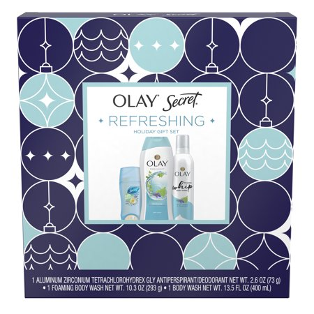 Olay Holiday Gift Pack (Fresh Outlast Body Wash + Secret Clear Gel Antiperspirant + Foaming Whip Body Wash)