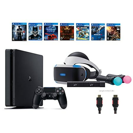 playstation vr start bundle 10 items vr start bundle ps4 slim uncharted 4 6 vr game disc until. Black Bedroom Furniture Sets. Home Design Ideas