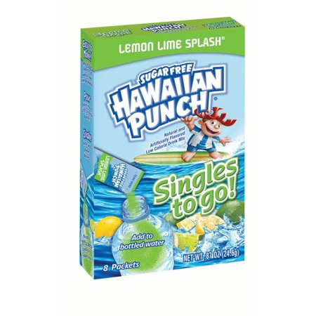 - Hawaiian Punch Singles To-Go Drink Mix, Lemon Lime, .97 Oz, 8 Packets, 1 Count